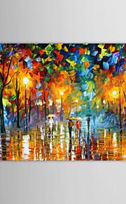 Картина маслом, ручной росписи, «Дождливый Вечер»
