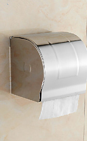 "Stainless Steel Wall-mounted Closed Toilet Paper Holder, 5"" x 5"" x 5"""