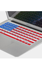 "coosbo® usa flag silicone peau de couverture de clavier pour 11.6 "", 13.3"", 15.4 "", 17"" pro macbook air / rétine"