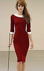 xinyuange® kvinders plus size vintage skrue ned krave syv point ærme løs kjole