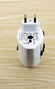 kompakt universel rejse strømstik adapter