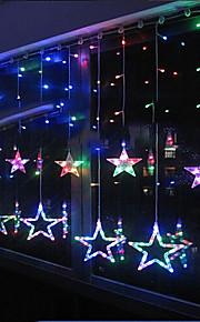 conduit guirlande lumineuse 8 lumières en forme d'étoile 220v résine 3m