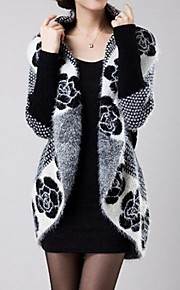 Women's Fashion Mohair  V-neck Loose Cardigan Knitwear Outerwear  (More Colors)