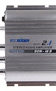SUOER SON-169 300W Multifunction Stereo Car Audio Power Amplifier (Silver)