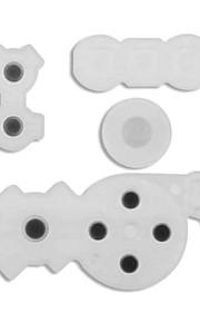 Gomma conduttiva pulsante 5 x contatto pad per Nintendo Wii telecomando