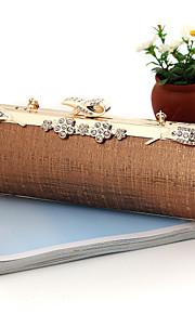 Handbag Faux Leather/Metal Evening Handbags/Bridal Purse With Crystal/ Rhinestone/Metal