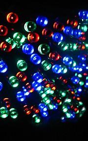17m 100 dirigée solaire lampe de chaîne de lumières de Noël alimenté bande de lumière clignotante intérieur et extérieur - rgb