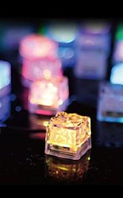 36pcs cubes de glace conduit noce lumière bar-restaurant de noël