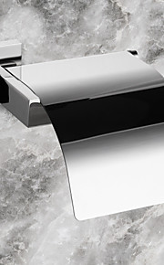 "PHASAT®,Toilet Paper Holder Stainless Steel Wall Mounted 160 x 145 x 65 mm (6.3 x 5.7 x 2.6"") Stainless Steel Contemporary"