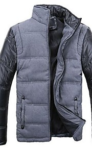 Men's Korean Style Stand Stitching Coat