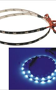 carking ™ 335-30smd-60cm waterdichte flexibele auto decoratieve kant glans strip licht (12v)