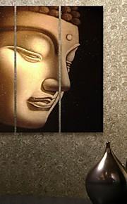 e-FOYER toile tendue art bouddha jeu de peinture décorative de 3