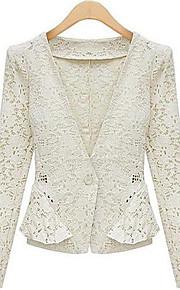 WeiMeiJia® Women's  Lapel Neck All Matching Linen Overcoat