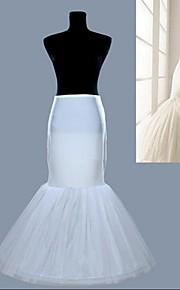 nouvelles blancs créoles une jupe en queue de poisson bordereaux de robe de mariée sirène crinoline jupon
