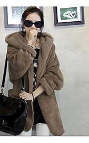 Women's Plus Sizes Fleece Lining Thicken Ccoat