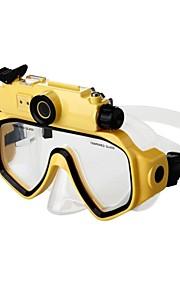 fuld af hd 720p vandtæt 30m dykning undervands briller skjult kamera goggle kamera A002