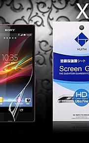hd skärmskydd med damm absorbatorn till Sony Xperia z / l36h (5 st)