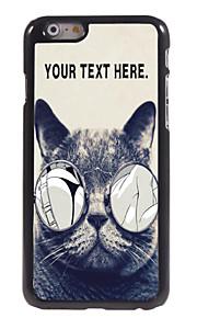 """gepersonaliseerd geval wellustige kat ontwerp metalen behuizing voor de iPhone 6 (4.7 """")"""