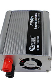 BEAUTY-CAR 500W DC 12V to AC 220V Car Power Inverter(Silver)