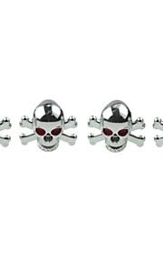 luksus bildæk kranium kobber ventiler dekoration cap (4 stykker pr pakke)