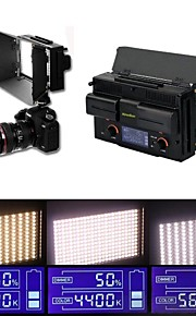 nye led312ds bi-farve på kamera lys + 2 * batterier LCD-skærm 312 leds justerbar til Videokamera foto videolys
