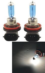 carking ™ h8 100W 5000K 1100lm ultra varm hvid halogen forlygte pærer (12V / Pair)