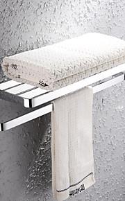 HPB®,מתלה מגבת / צדף לחדר האמבטיה כרום התקנה על הקיר 67*27*20cm(26.8*10.8*8inch) פליז מודרני