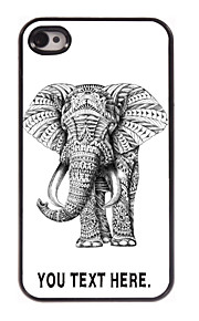 индивидуальный случай слон дизайн корпуса металл для iPhone 4 / 4s