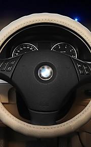 LEBOSH®Danny Skin Micro Fiber Leather Punching Steering Wheel Covers 37-38CM