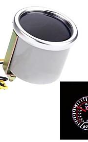 "2 ""52mm auto bar boost peilen universele smoke lens indicator witte auto meter"