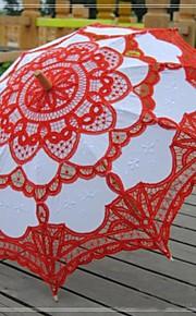 תחרה/כותנה מטריות חתונה עם תחרה/רקמה
