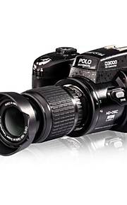 """3 """"5.0MP 16x CMOS-sensor digital spejlreflekskamera videooptager understøtter 32gb sd kort"""