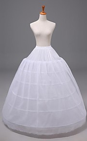 Déshabillés ( Nylon/Satin/Organza , Blanc ) - Robe trapèze - 3 - 40inch(Approx.101.6cm)