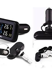 careud TPMS, dæk pressyre overvågningssystem, bil TPMS med 4 interne sensorer, diagnoseværktøjer, udskiftelig sensor batteri