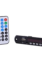 ZE-CY08E 12V 5W * 2 Double Output Audio MP3/WMA/WAV Decode Module (Black)