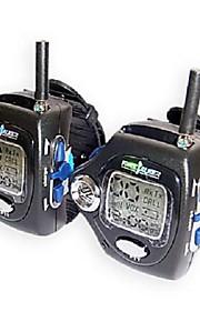 22 kanalen polshorloge stijl een paar walkie talkie met grote backlight LCD-scherm