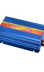 SUOER FAA-1000B 1000W DC 24V to AC 230V Solar Power Inverter with Reverse Battery +/- Protection(Blue)