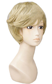 Angelaicos Men Sailor Moon Tenoh Haruka Short Blonde Party Layered Halloween Lolita Costume Cosplay Wig