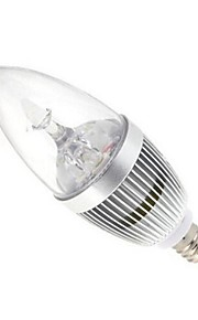 9W E14 LED-lysestakepærer 3 Høyeffekts-LED 72 lm Varm hvit / Kjølig hvit AC 85-265 V 1 stk.