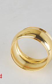 6pcs anel de guardanapo de cobre em forma de tambor