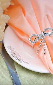 ajuste de la tabla de la boda de diamante de la hebilla --- servilleta arco