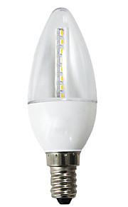 1 stk. H+LUX™ E14 5 W 27 SMD 3022 350 LM Varm hvit C Dekorativ Lysestakepære AC 220-240 V