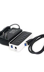 7-port super speed USB 3.0 hub med plasteske