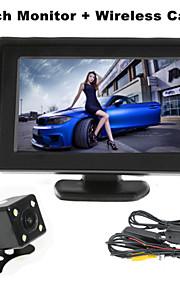 renepai® 4,3 inch monitor + draadloze 170 ° hd auto achteruitrijcamera + high-definition groothoek waterdicht CMOS-camera