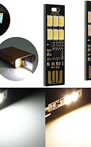 10PCS 1W 50LM Warm White Touch Switch USB Mobile Power Camping LED Light Lamp