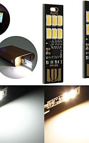 10pcs 1W 50lm varm hvit touch bytte usb mobile strøm camping LED lys lampe