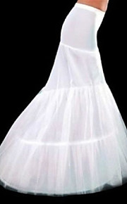 Déshabillés(Polyester,Blanc) -Robe sirène et robe évasée / Chapelle-3-100cm