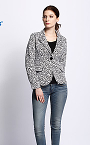 CANIS@New Women's Turn-down Collar Leopard Blazer