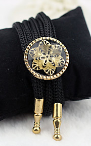 Men Party/Casual Nylon/Other Round Shape Engraving Bolo Neck Tie