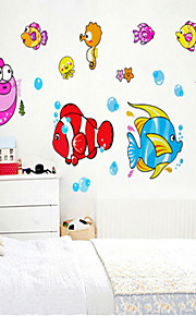 Wall Stickers Wall Decals , Fish PVC Wall Stickers